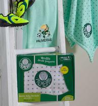 Manta Bebê Microfibra Bordada Palmeiras 90 X 1,10m Jolitex Verde -