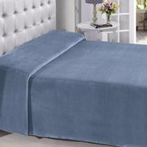 Manta Buettner King Microfibra Azul Oceano Lisa Extra Brilho 220x240cm Flannel Fleece - China