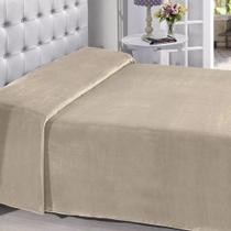 Manta Buettner King Microfibra Palha Lisa Extra Brilho 220x240cm Flannel Fleece