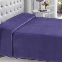 Manta Buettner Solteiro Microfibra Roxo Lisa Extra Brilho Flannel Fleece - China