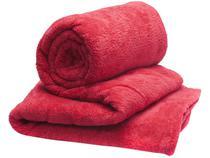 Manta Casal Microfibra Camesa  - Vermelho