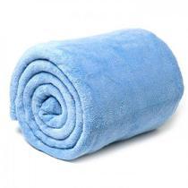 Manta Casal Padrão Soft Cobertor Microfibra Azul claro - Sara Enxovais