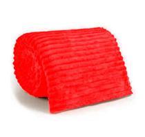 Manta Cobertor Canelada Casal Soft Riscada Aveludada 2,00x1,80m Fofinha - Vanaildo