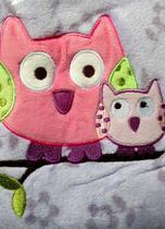 Manta Cobertor Infantil Bebê Bouton Corujinha -