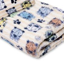 Manta Cobertor Menina Menino Mantinha Microfibra Soft Quentinha Estampada Bebe - Anjos Enxovais