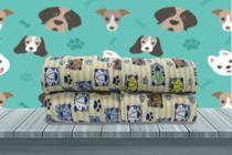 Manta Cobertor Soft Pet Cachorro Gato Masculino Estampado 0,80 x 0,95 Pequeno Porte Flobelle -