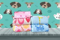 Manta Cobertor Soft Pet Estampado Raça Pequena Masculina 0,80 x 0,95 Flobelle -
