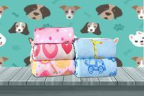 Manta Cobertor Soft Pet Feminina Estampada Raça Pequena 0,80 x 0,95 Flobelle -