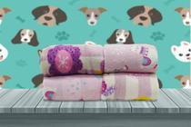 Manta Cobertor Soft Pet Pequeno Porte Feminina Cachorro Gato Estampada 0,80 x 0,95  Flobelle -