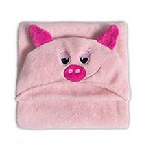 Manta de Microfibra Buettner Pig  Infantil  com Capuz -