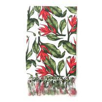 Manta de Sofá Jacquard Floral 190x140 - Sua Casa Decor