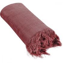 Manta de Sofá Vermelha Pernambucanas Casa -