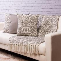 Manta Decorativa para sofá 2,5 x 1,4m e 3 capas de almofada - medalhaok104 - Quadroid Mantas