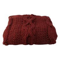 Manta Decorativa Vermelha 125x150cm - A/CASA - A\CASA