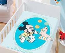 Manta  Disney Mickey com Foquinha - Jolitex