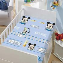 Manta Disney Mickey Trenzinho/ Mickey e Pluto-Jolitex- Azul -