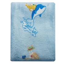 manta dyuri para bebê menino carinho jolitex azul -