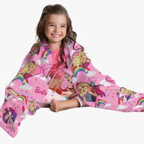 Manta Infantil Para Sofá Fleece Barbie Soft /coberta/cama -