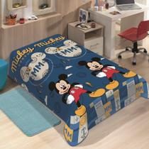 Manta Jolitex Solteiro Soft Microfibra Disney Mickey Mouse -