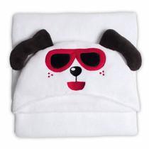 Manta Microfibra 90x90 Infantil Com Capuz Happy Dog - Bouton
