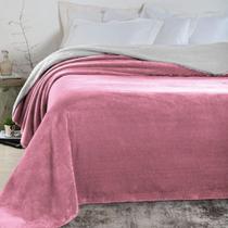 Manta Microfibra Casal Rosa Antigo Altomax -