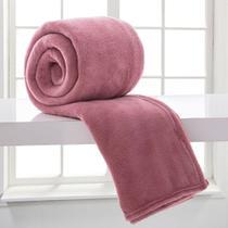 Manta Microfibra Casal Rosa Antigo - Corttex -