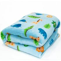 Manta Microfibra Confort Baby Hazime Zoo Azul - Hazime Enxovais