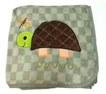 Manta para bebê de Microfibra Buettner com Bordado Tartaruga Verde -