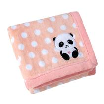 Manta Para Bebê Lepper Bordada E Estampada Mini Panda Rosa -