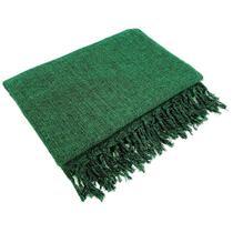 Manta Para Sofá Algodão Verde Mesclado Gigante 2,40 X 1,80 - brianoredes