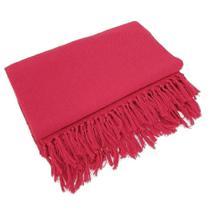 Manta Para Sofá Em Algodão Vermelha Gigante 2,40 X 1,80 - brianoredes