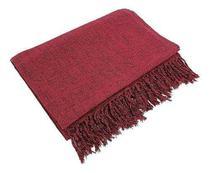 Manta Para Sofá Em Algodão Vermelho Mesclado 2,40 X 1,80 - brianoredes