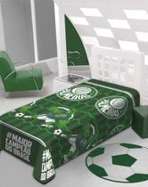 Manta Soft com Cinta Time Palmeiras Jolitex -