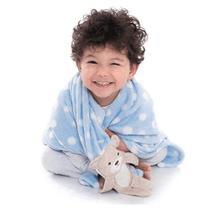 Manta Soft para Bebê Loani Ursinho Xadrez Amarelo - Loani Presentes