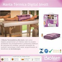 Manta Termoelétrica Meio Corpo DIGITAL Bivolt Automática Bio term -