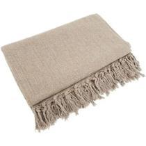 Manta xale para sofa areia 2,40 x 1,80 - Nivânio