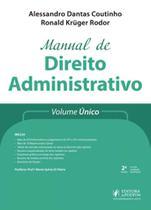 Manual de direito administrativo - volume unico - 2018 - Juspodivm