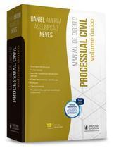 MANUAL DE DIREITO PROCESSUAL CIVIL - VOLUME ÚNICO (13ª ED. 2021) JUSPODIVM - DANIEL AMORIM -