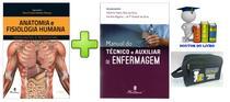 Manual Técnico Enfermagem 2 Ed. + Anatomia Fisiologia Humana - Editora martinari