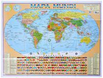 Mapa Mundi Planisfério Político Escolar Gigante Atualizado - Multimapas -