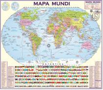 Mapa Mundi Politico Atualizado Mundo Planisferio - 120 X 90cm - Multimapas