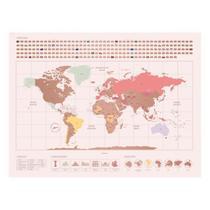 Mapa raspadinha mundo rose gold - Imaginarium