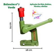 Máquina Aplicador Balancim para Pregar Botão de Pressão E Ilhós Cor Verde Nº 7 - Graziano