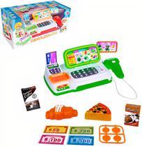 Maquina Caixa Registradora Infantil Mercadinho Com Scanner Luz E Som - Wk