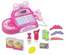 Máquina Caixa Registradora Infantil Rosa + Acessórios - Fênix