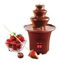 Maquina Chocolate Fondue Eletrica Fondi Cascata 110v Mini - Não Informada