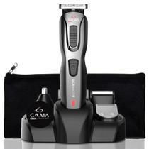 Máquina Cortador De Cabelo Aparador Barba E Pelos 9 Em 1 Gama Italy Multigroom + Necessaire -