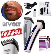Máquina Cortar Cabelo Aparar Barba Corpo Bivolt Recarregável Cortador Pezinho Axila Barbeador Bigode Corte Profissional - Leffa Shop