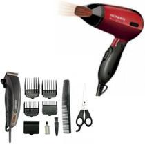 Maquina Cortar cabelo Mallory Mithos Power 110V e secador cabelo Mondial Max Travel bivolt - Mallory E Mondial