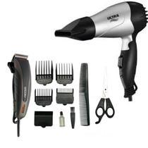 Maquina Cortar cabelo Mallory Mithos Power 110V e secador Mondial ultra SC-15 bivolt - Mallory E Mondial